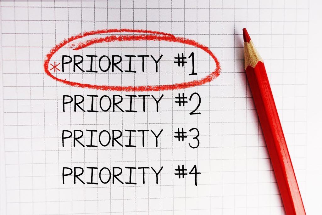 仕事の優先順位をつけて取り組む